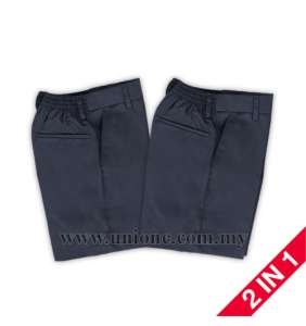 2 in 1 ! N.BLUE SHORT PANTS (U26476P) SZ21