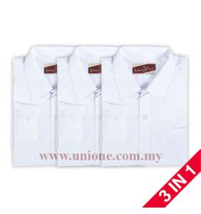 3 in 1 ! ANTI-WRINKLE COTTON L.S SHIRT (U3512)